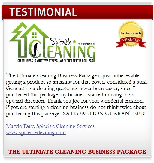 free sample cleaning contracts